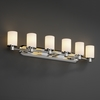 Justice Design (FSN-8516) Rondo 6-Light Bath Bar from the Fusion Collection