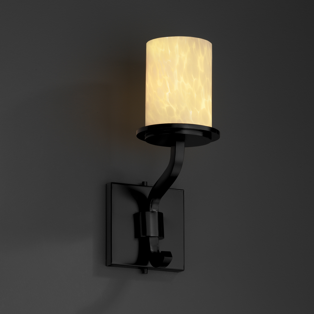 Justice Design (FSN-8781) Sonoma 1-Light Wall Sconce (Short) from the Fusion Collection