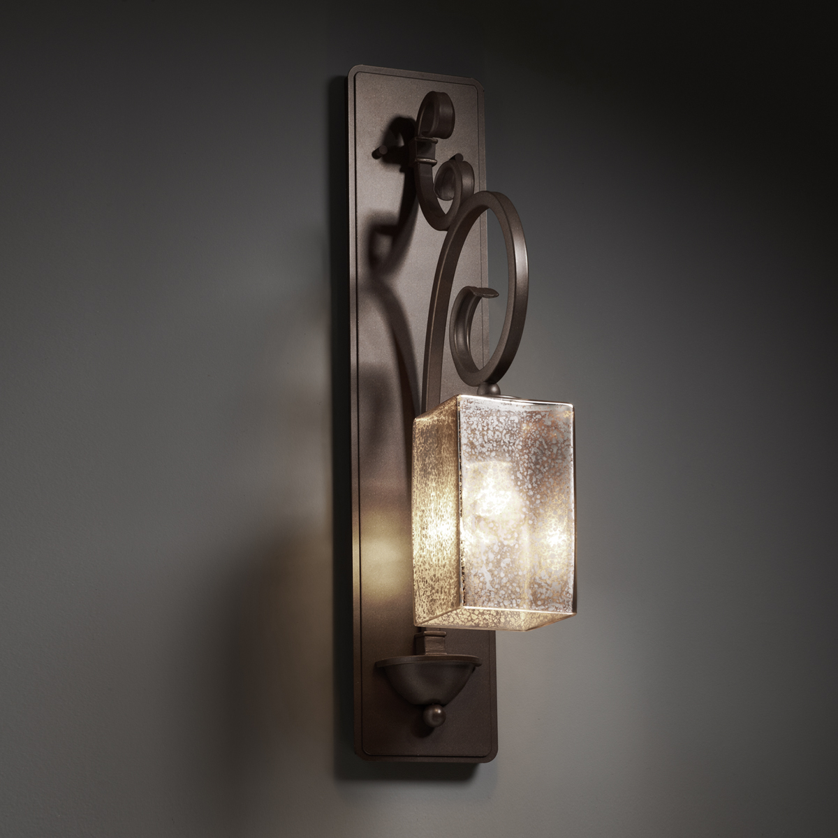 Justice Design (FSN-8579) Victoria 1-Light Wall Sconce (Tall) from the Fusion Collection