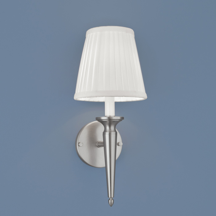 georgetown 1 light wall sconce in brushed nickel finish by