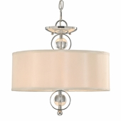 Golden Lighting (GLDN-1030-SF) Cerchi Semi-Flush (Convertible) shown in Chrome with Opal Satin Shade