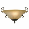 Golden Lighting (GLDN-7116-WSC) Mayfair Wall Sconce shown in Leather Crackle with Crème Brulee Glass