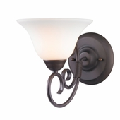 Golden Lighting (GLDN-8606-BA1) Homestead 1 Light Bath Vanity shown in Rubbed Bronze with Opal Glass