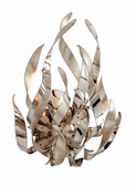 Corbett Lighting (154-11) Graffiti 1 Light Wall Sconce shown in Silver Leaf and Polished Stainless Finish