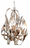 Corbett Lighting (154-12) Graffiti 2 Light Wall Sconce shown in Silver Leaf and Polished Stainless Finish