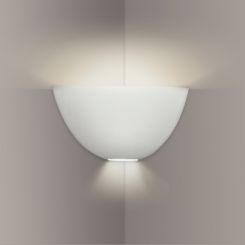 Corner Wall Light Fixture : Gran Aegina Corner Sconce 1 Light Fixture shown in Bisque by A19 Lighting - A19-304CNR