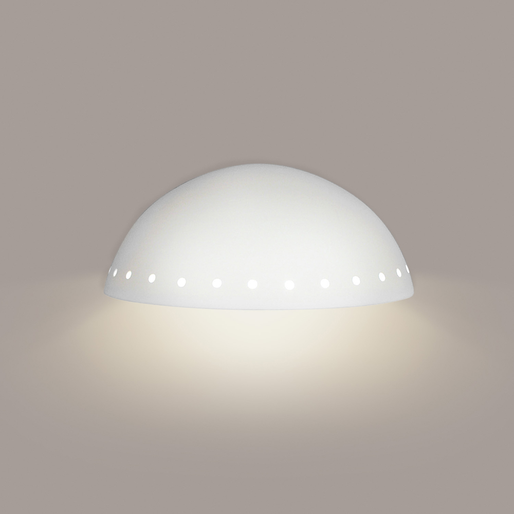 Gran Cyprus Downlight Wall Sconce 2 Light Fixture shown in Bisque by A19 Lighting - A19-306D
