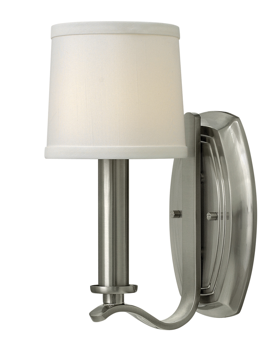 Hinkley Lighting (4180BN) Clara Single Light Wall Sconce in Brushed Nickel with Etched Opal ...