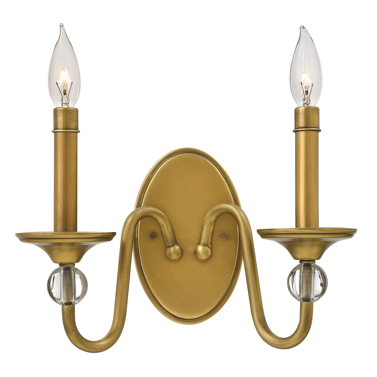 Hinkley Bathroom Wall Sconces : Hinkley Lighting (4952HB) Eleanor 2-Light Wall Sconce in Heritage Brass