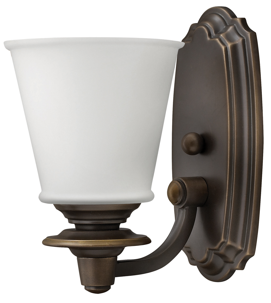 Hinkley Bathroom Wall Sconces : Hinkley Lighting (54260OB) Plymouth Single Light Bathroom Vanity Fixture in Olde Bronze