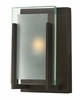 Hinkley Lighting (5650OZ) Latitude Single Light Bathroom Vanity Fixture in Oil Rubbed Bronze with Clear Beveled Inside-Etched Shade