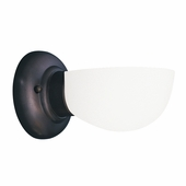 Hudson Valley Lighting (101-811) Edison Collection 1 Light Bath Bracket shown in Old Bronze with Opal/Matte Glass Shade