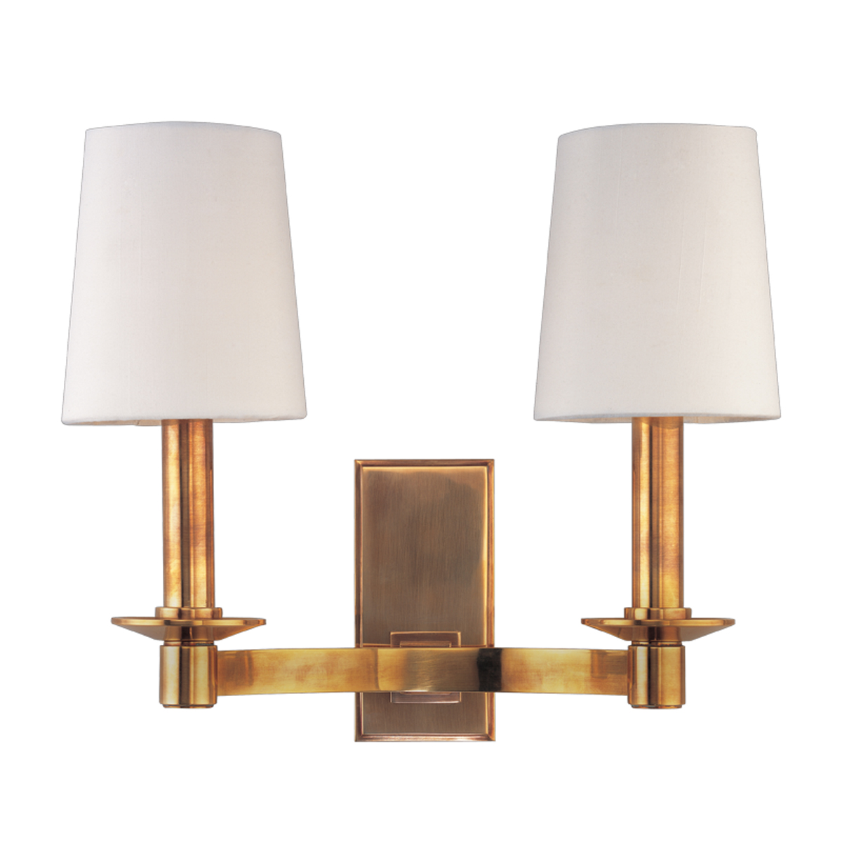 Aged Brass Wall Sconces : Hudson Valley Lighting (152) Spencer 2 Light Wall Sconce shown in Aged Brass