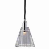 Hudson Valley Lighting (3506-003) Naples 1 Light Pendant shown in Polished Chrome with Black Cord