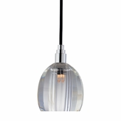 Hudson Valley Lighting (3506-004) Naples 1 Light Pendant shown in Polished Chrome with Black Cord