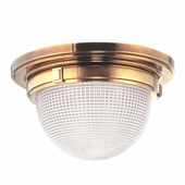 "Hudson Valley Lighting (4415) Winfield 14.75"" Flush Mount shown in Aged Brass"