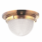 "Hudson Valley Lighting (4418) Winfield 17.75"" Flush Mount shown in Aged Brass"
