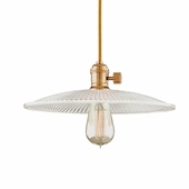"Hudson Valley Lighting (8001-GS4) Heirloom 1.875"" Pendant shown in Aged Brass"