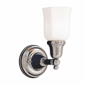 Hudson Valley Lighting (861-119) Historic Collection 1 Light Bath Bracket shown in Polished Chrome