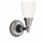 Hudson Valley Lighting (861-348M) Historic Collection 1 Light Bath Bracket shown in Polished Chrome