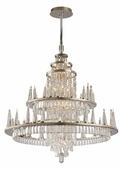 Corbett Lighting (170-012) Illusion 12 + 48 Light Entry Chandelier shown in Silver Leaf Finish