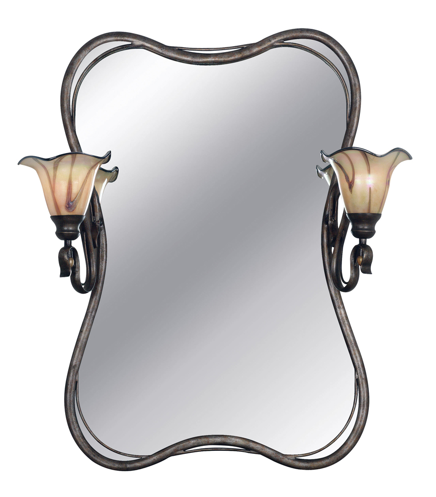 inverness 2 light vanity mirror shown in tuscan silver finish by kenroy home knry 90890ts. Black Bedroom Furniture Sets. Home Design Ideas