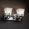 Justice Design (CLD-8172) Metropolis 2-Light Bath Bar from the Clouds Collection