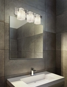 Justice Design (CLD-8173) Metropolis 3-Light Bath Bar from the Clouds Collection