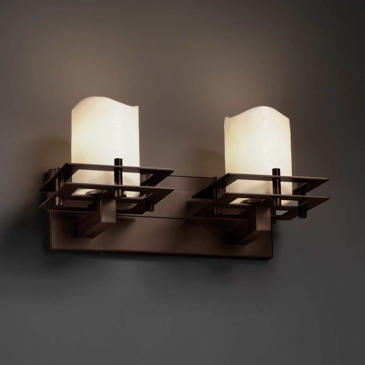 Justice design cndl 8172 metropolis 2 light bath bar from the candlearia collection - Justice design bathroom lighting ...