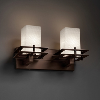 Justice Design (FSN-8172) Metropolis 2-Light Bath Bar from the Fusion Collection