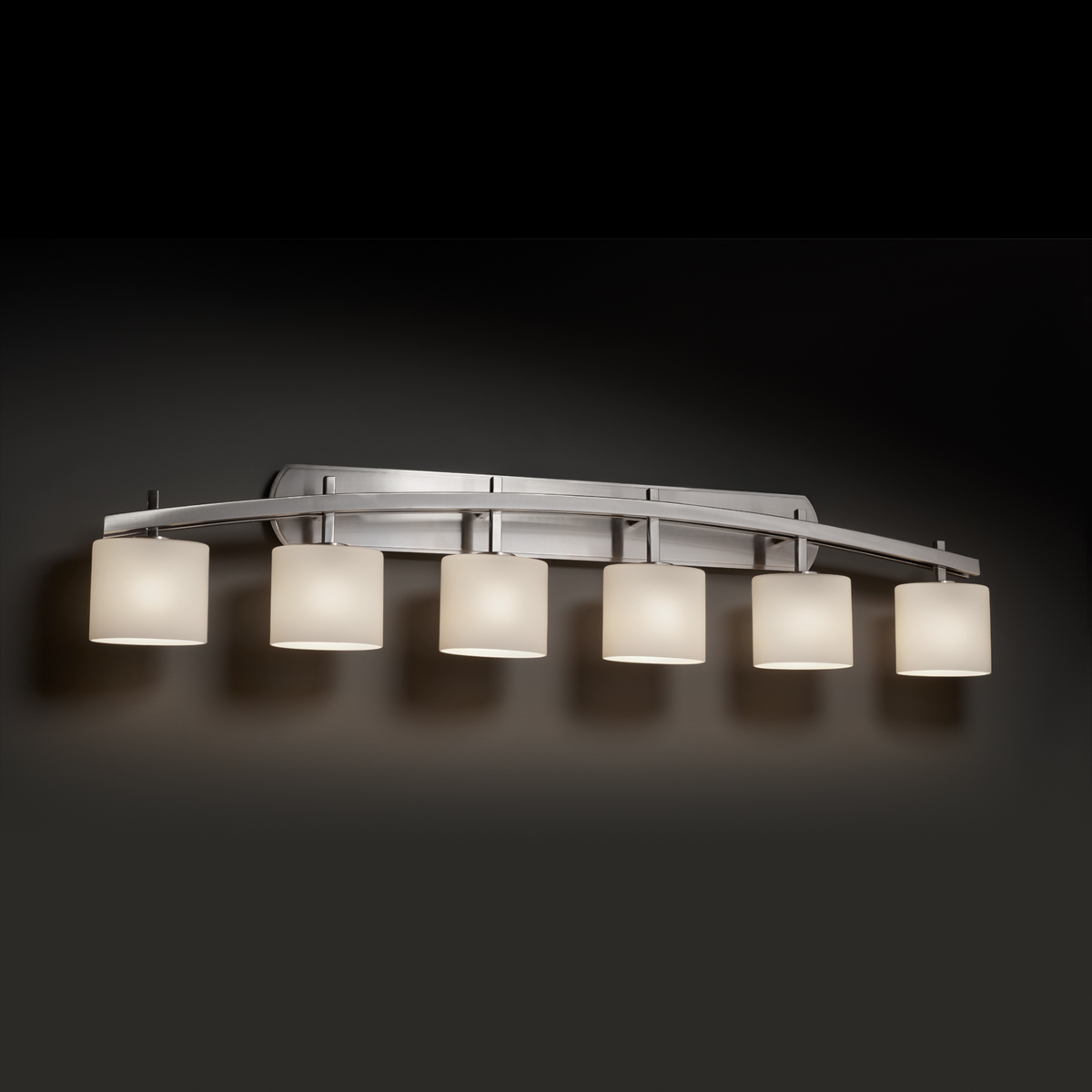 Justice Design Fsn 8596 Archway 6 Light Bath Bar From The Fusion Collection