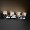 Justice Design (POR-8174) Metropolis 4-Light Bath Bar from the Limoges Collection