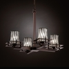 Justice Design (WGL-8100) Metropolis 4-Light Chandelier from the Wire Glass Collection