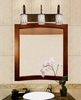 Justice Design (WGL-8573) Victoria 3-Light Bath Bar from the Wire Glass Collection
