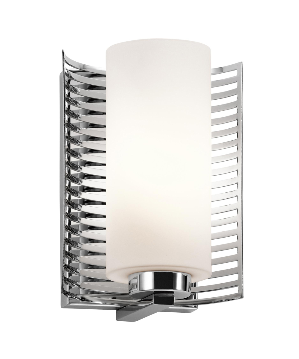 Halogen Bathroom Wall Sconces : Kichler Lighting (45431CH) Selene 1-Light Halogen Wall Sconce in Chrome