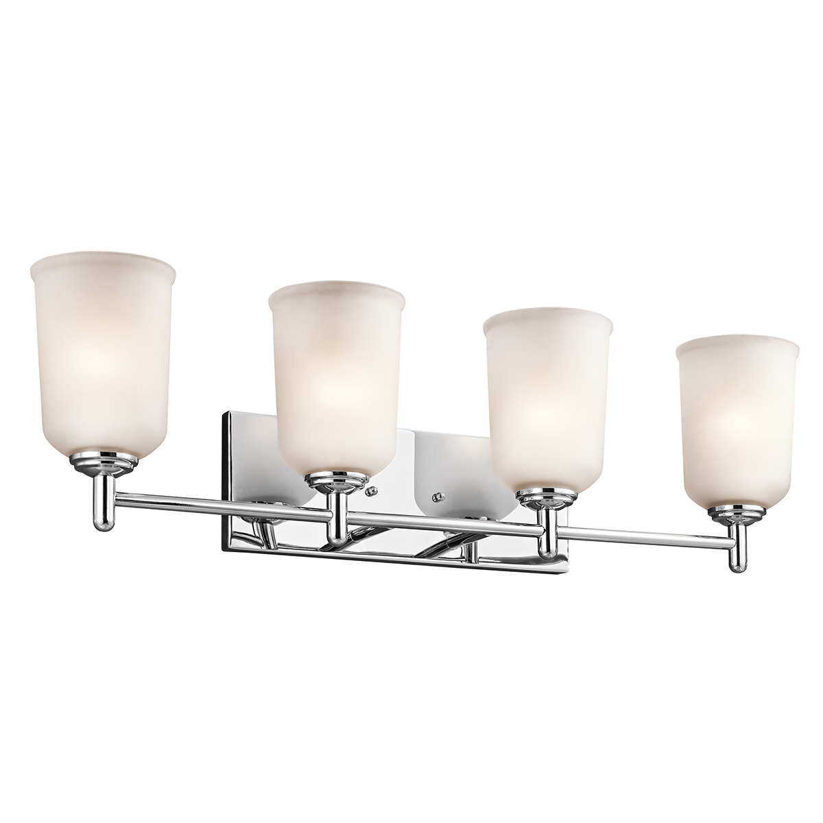 Kichler lighting 45575ch shailene 4 light bath fixture for 4 light bathroom fixture