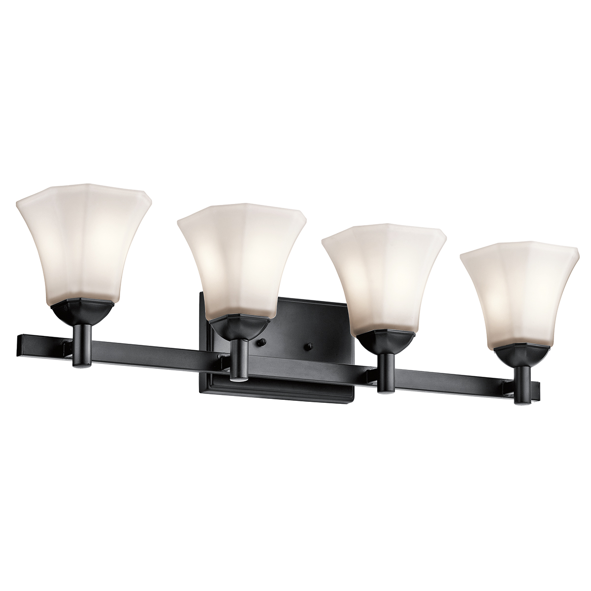 Vanity Light Fixture Black : Kichler Lighting (45734BK) Serena 4-Light Bath Vanity Fixture in Black