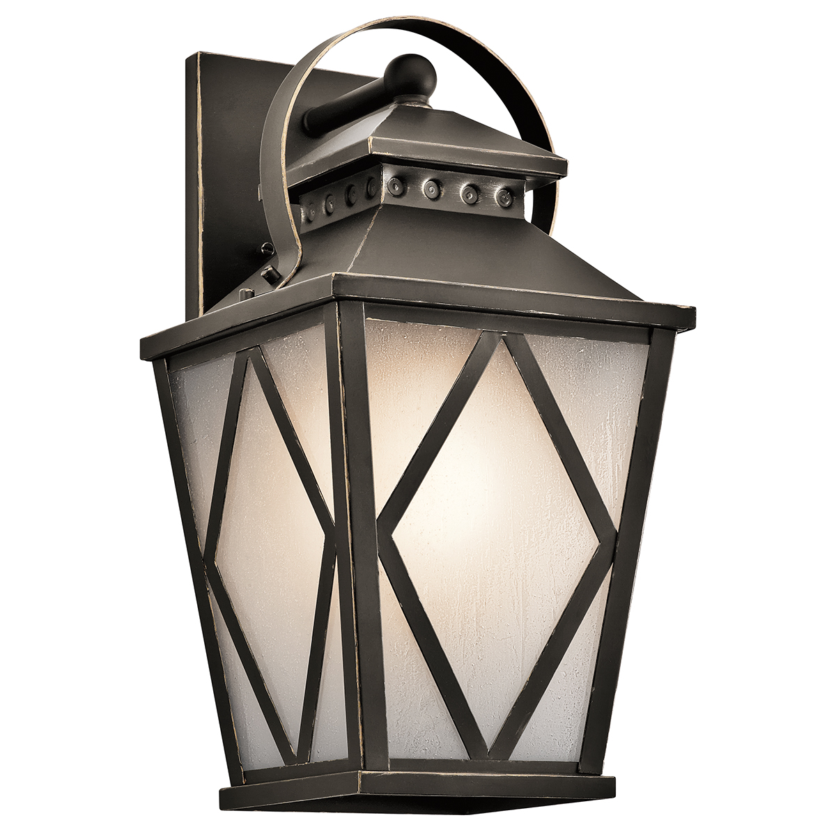 Outdoor Wall Sconce Kichler : Kichler Lighting (49292OZ) Hayman Bay 1-Light Outdoor Wall Sconce in Olde Bronze