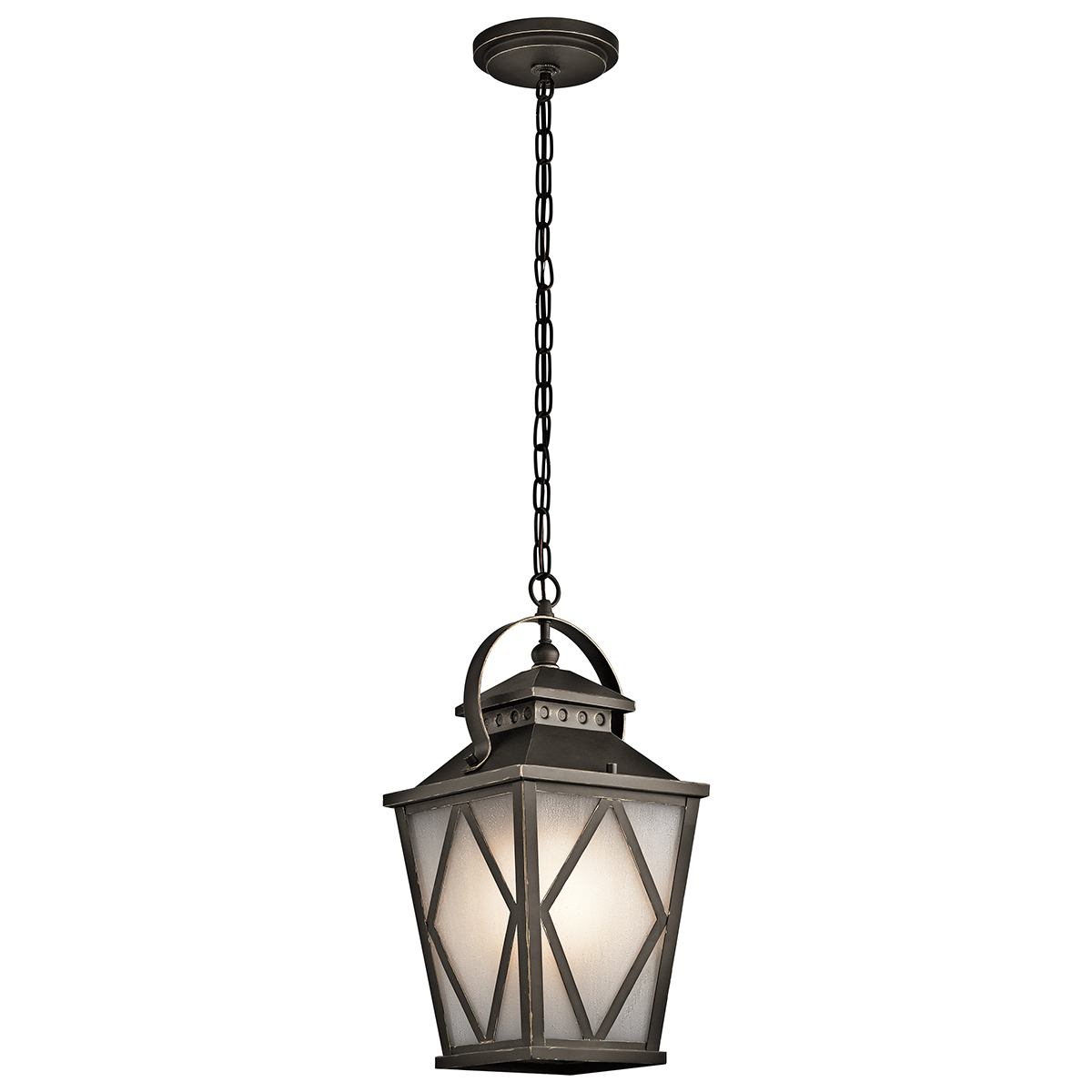 Kichler lighting 49294oz hayman bay 1 light outdoor Outdoor pendant lighting