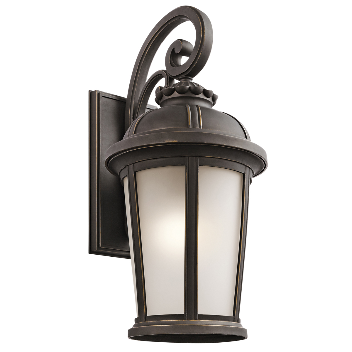 Large Wall Sconces Lighting : Kichler Lighting (49414RZ) Ralston 1-Light X-Large Outdoor Wall Sconce in Rubbed Bronze