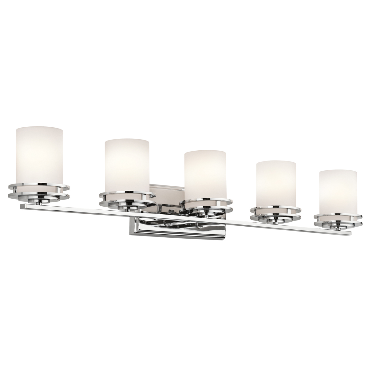 Kichler lighting 5085ch hendrik 5 light bath fixture in for Bathroom 5 light fixtures