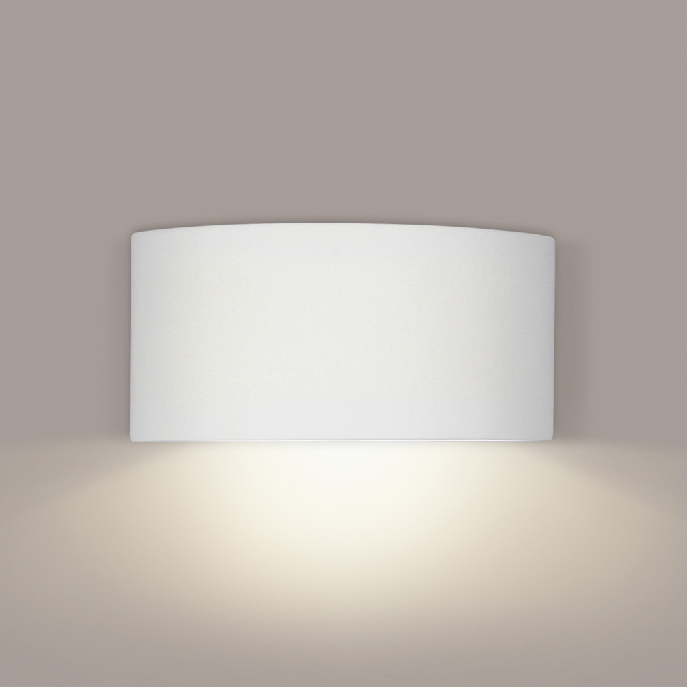 Krete Downlight Wall Sconce 1 Light Fixture shown in Bisque by A19 Lighting - A19-1701