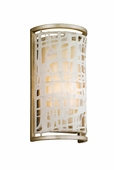 Corbett Lighting (131-11) Kyoto 1 Light Small Wall Sconce shown in Silver Leaf Finish