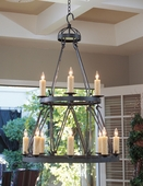 2nd Avenue Lighting (01.0750.36) Lakeshore 2 Tier Chandelier shown in Antique Iron Gate Finish