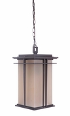 Exteriors by Craftmade (Z5221-92) Winslow 9.13 Inch Pendant in Oiled Bronze & Amber Frost Glass