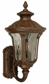 Exteriors by Craftmade (Z3520-98) Sheffield 2 Light Large Wall Mount in Aged Bronze & Clear Hammered Glass