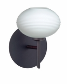 Lasso 1 Light Wall Sconce Vanity shown in Bronze with Opal Matte Glass Shade by Besa Lighting