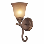 Lawrenceville 1 Light Sconce shown in Mocha by Cornerstone Lighting