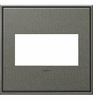 Legrand (AWC2GBP4) adorne Brushed Pewter, 2-Gang Wall Plate