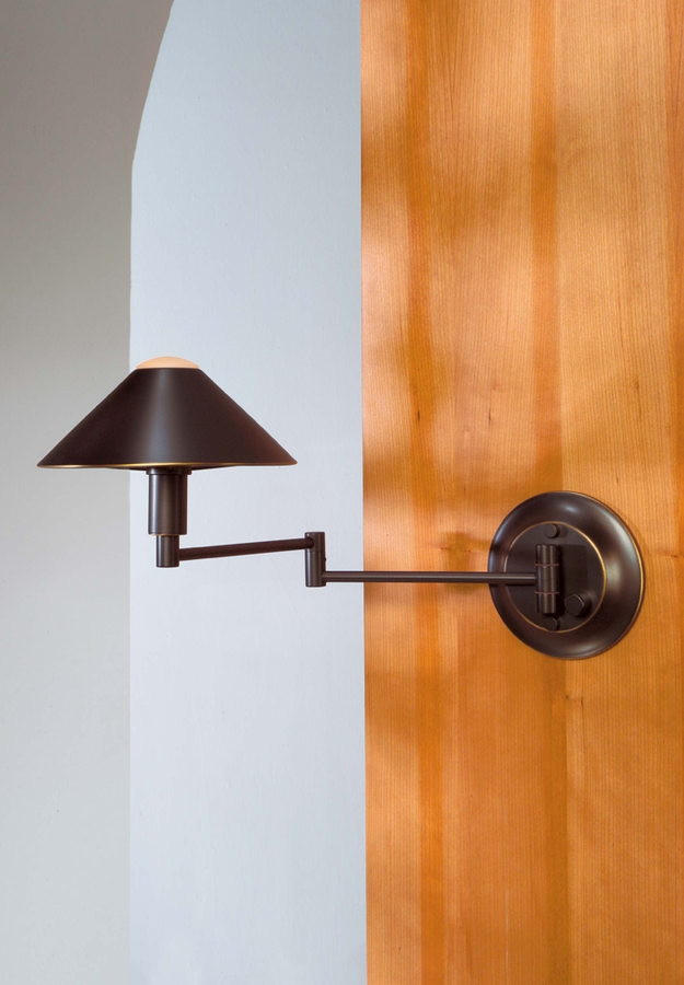 Lighting For The Aging Eye Halogen Swing Arm Wall Sconce shown in